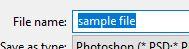 file name save photoshop