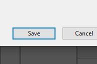 save button dialog box