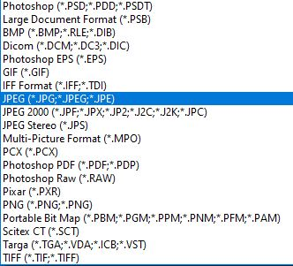 save as file types option