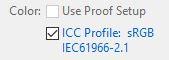 icc profile checked
